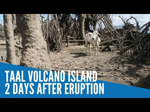 Taal Volcano island 2 days after eruption
