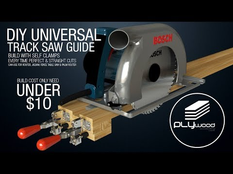 DIY Universal Track saw guide with self clamps - Circular saw Jigsaw Router guide