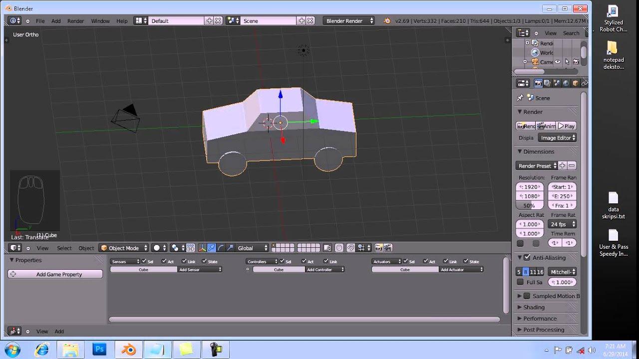 Tutorial Membuat Game Sederhana Dengan Blender