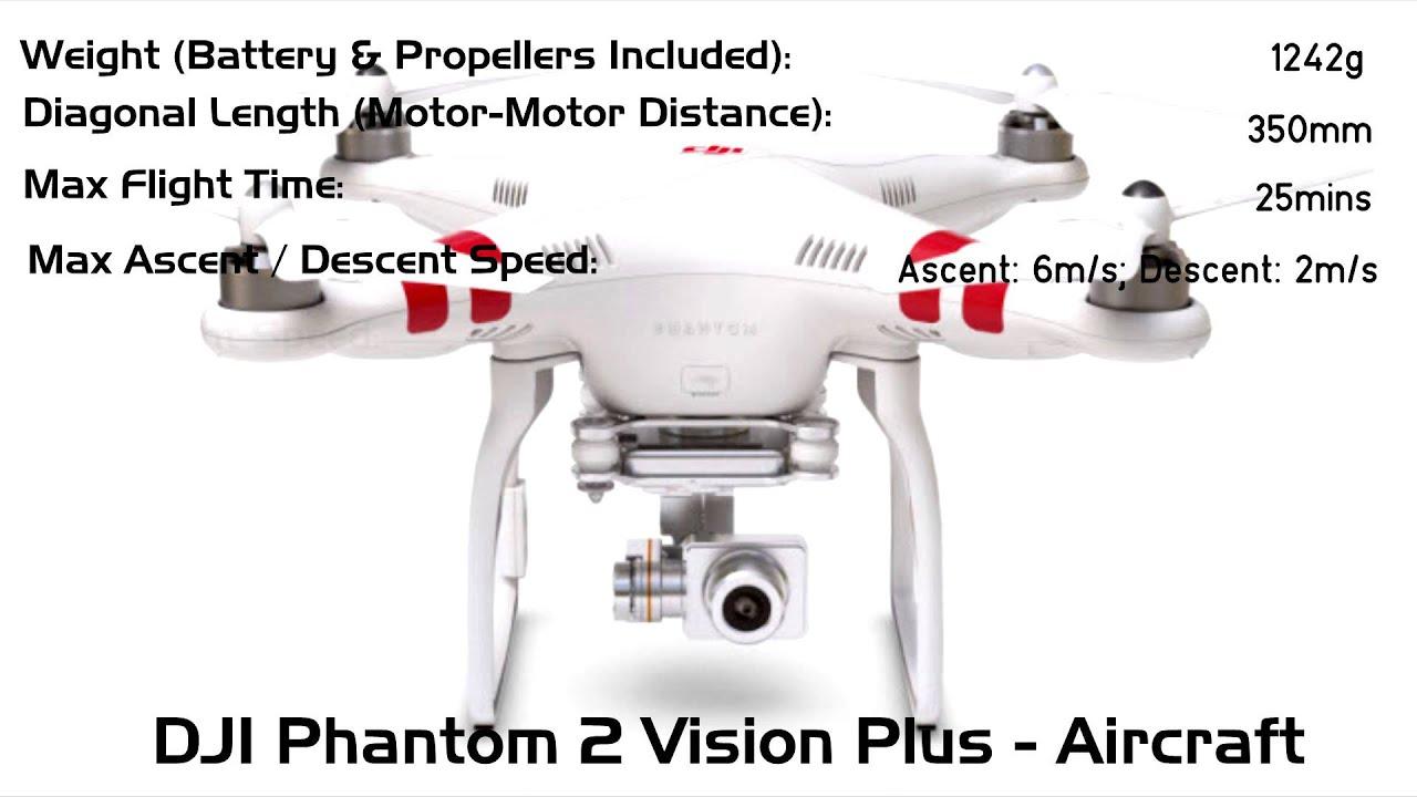 dji phantom 2 vision plus aircraft specs youtube. Black Bedroom Furniture Sets. Home Design Ideas