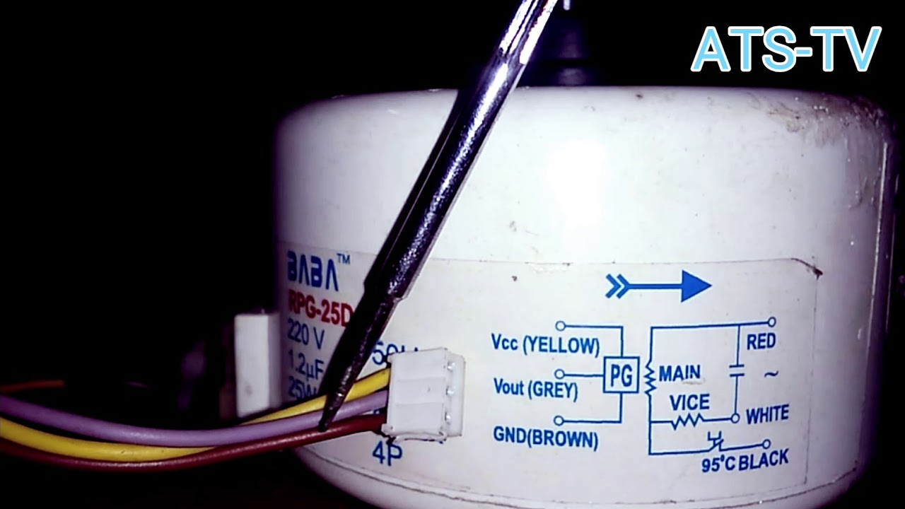 Air Conditioner Fan Motor Circuit Diagram Youtube Conditioners Wiring