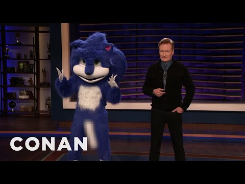 The New & Improved Sonic The Hedgehog Stops By CONAN - CONAN on TBS