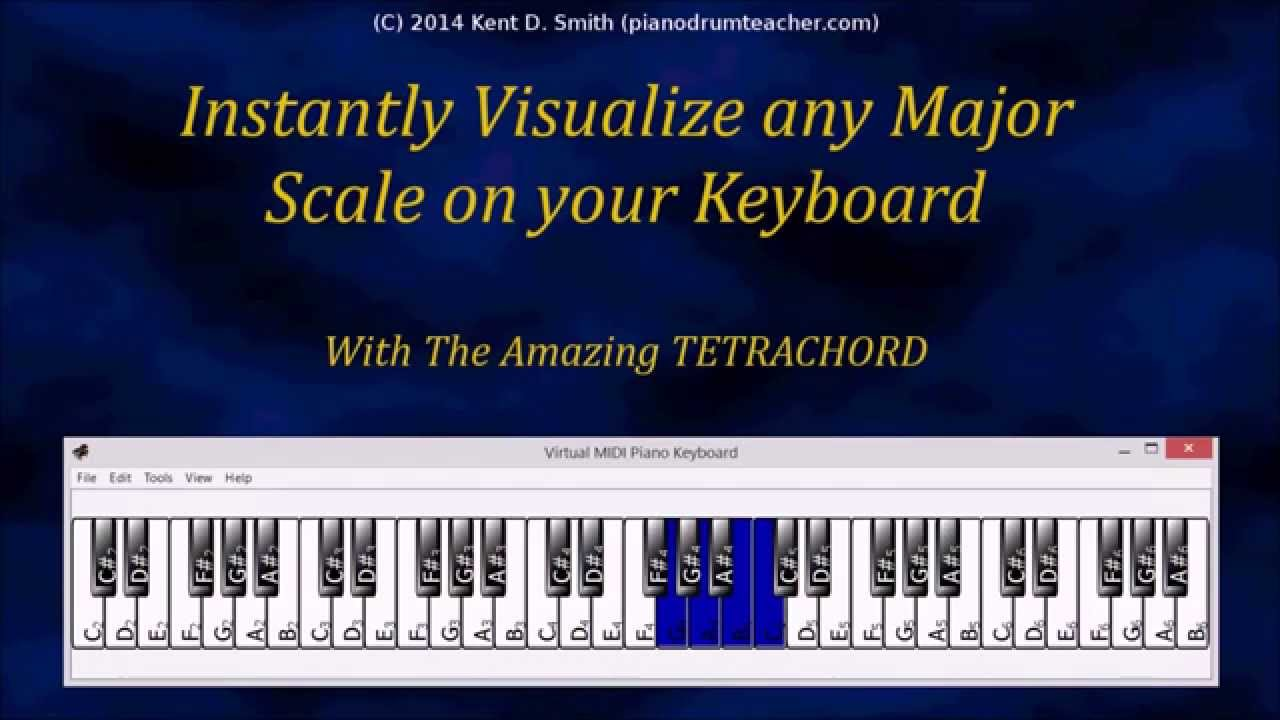 Instantly visualize any major scale on your piano the amazing instantly visualize any major scale on your piano the amazing tetrachord youtube hexwebz Gallery