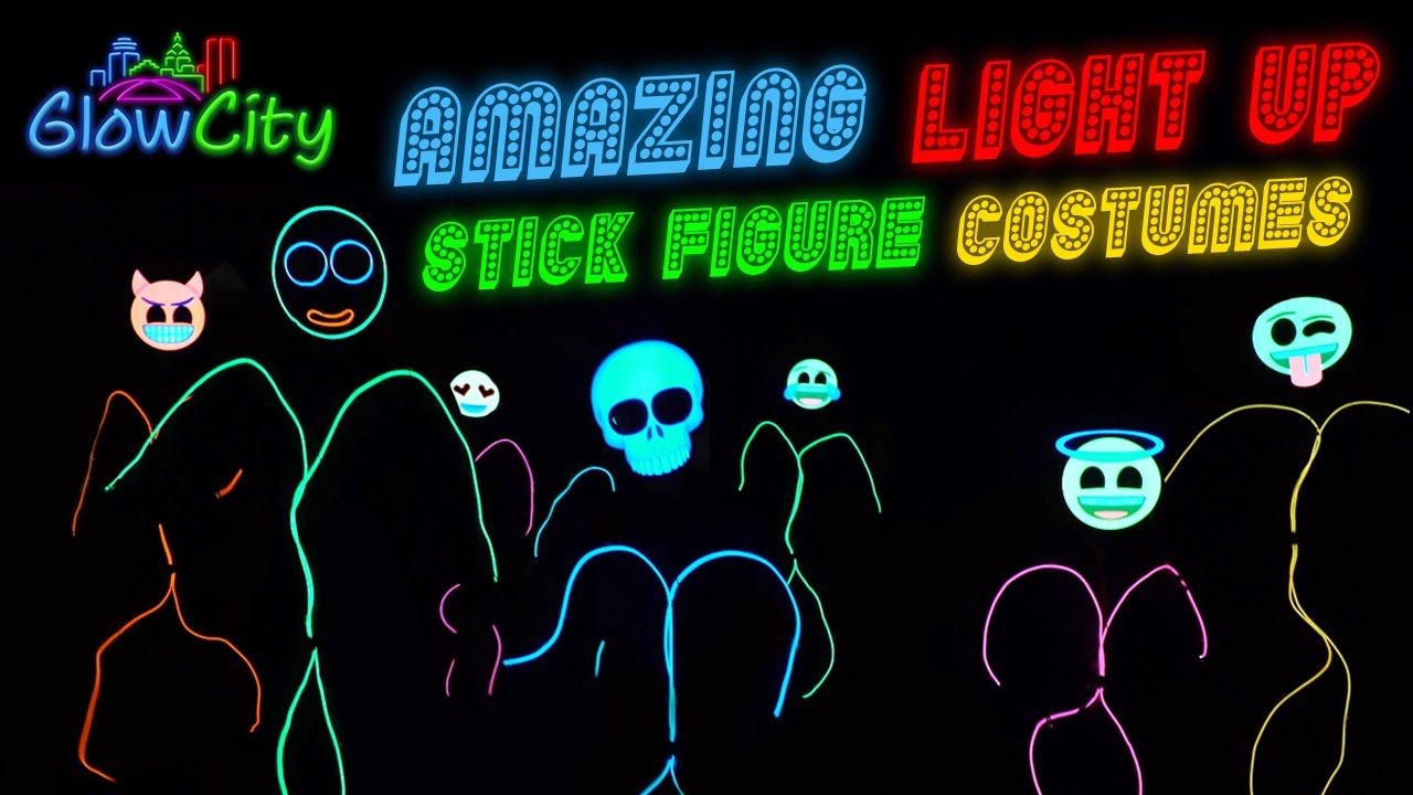 glowcity's amazing light up stick figure costumes - youtube