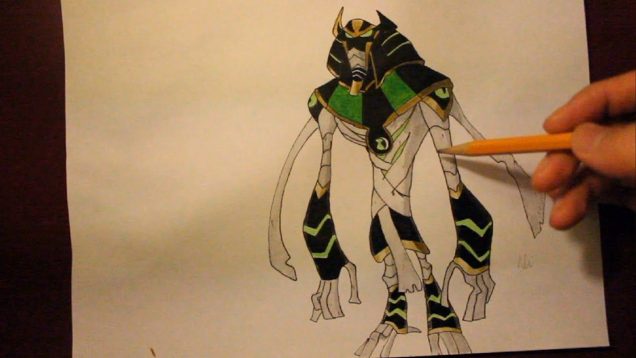 How To Draw Snare Oh From Ben 10 Omniverse Step By
