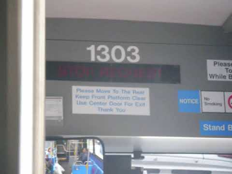 "On Board: 2009 DesignLine ""Citibus"" Eco-Saver IV HEV B43 Bus #1303 Via Kingston Ave Part 1"