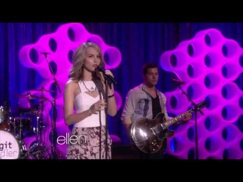 Bridgit Mendler performs Hurricane  (Ellen show)