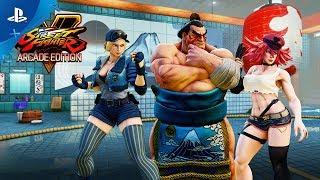 Street Fighter V: Arcade Edition – E. Honda/Lucia/Poison Gameplay Trailer | PS4