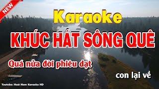 Khúc hát sông quê karaoke nhạc sống - karaoke khuc hat song que