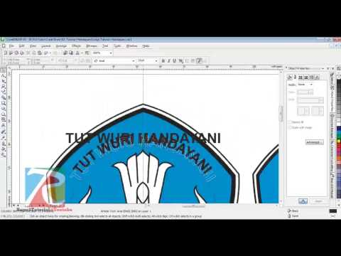 Berikut salah satu cara membuat logo tut wuri handayani dengan menggunakan software corelDRAW Like, .