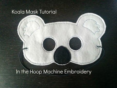 Koala Mask Tutorial | In the Hoop Machine Embroidery | Dejah Vue Designs