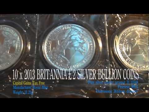 Cheapest UK Silver Bullion - 2013 Britannia £2 .999 Silver Coins