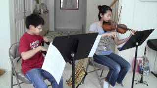 """I Surrender All""---violin, oboe & alto saxophone by Esther & Joshua Liu"