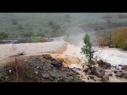 זרימת הירדן ההררי בעקבות הגשמים
