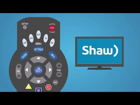 Programming Your Shaw Remote I Support & How To I Shaw