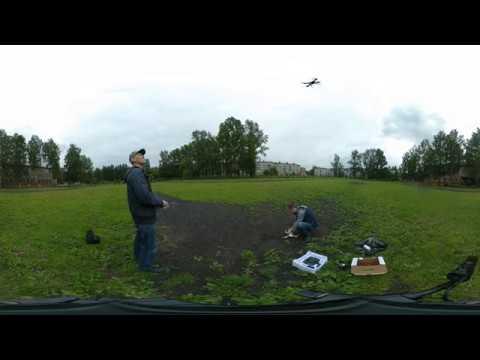 360 видео, запускаем квадрокоптер с GPS Hubsan X4 H501S и Syma X8