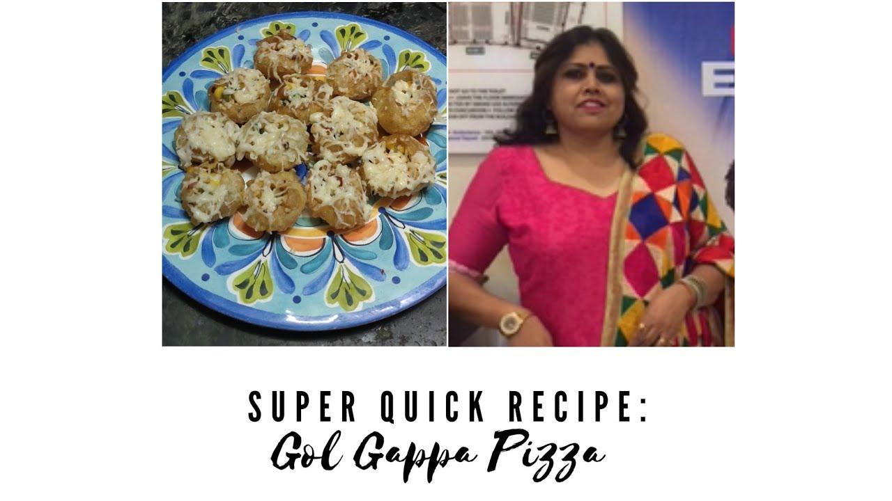Super Quick Snack : Gol Gappa Pizza