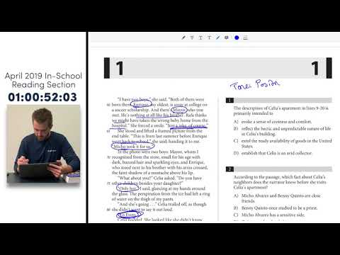 Star Tutors SAT Series: TIMED SAT READING Test (April 2019 In-School SAT Exam)