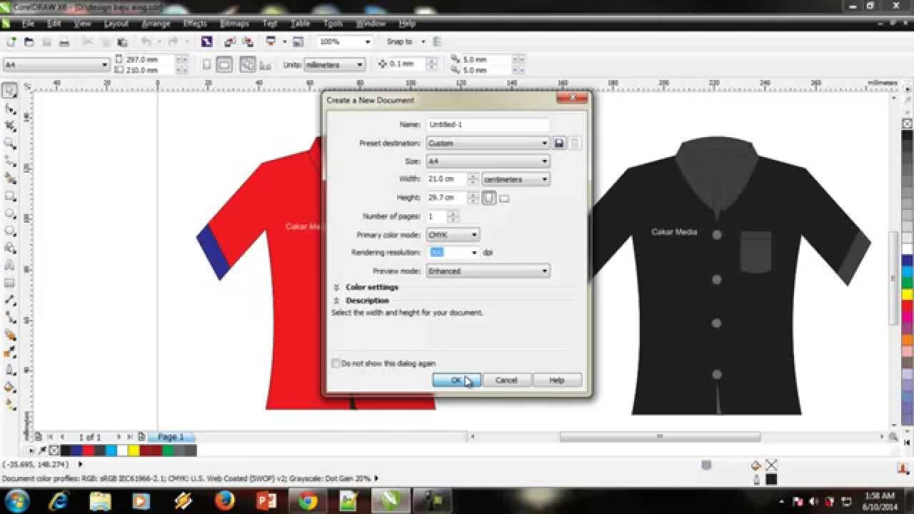 0b73b5811 Cara Design Baju Kemeja Dengan Mudah - YouTube