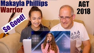 Makayla Phillips -15-Year-Old Receives Golden Buzzer For Warrior - America's Got Talent 2018