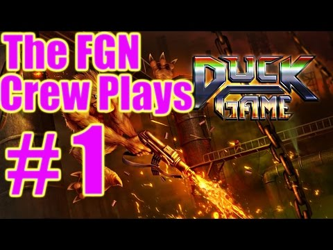 The FGN Crew Plays: Duck Game #1 - QuackTastic (PC)