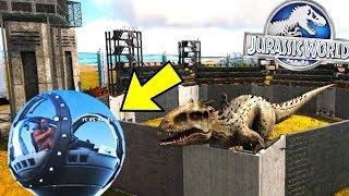 ARK Jurassic Evolution - GYROSPHERE INDOMINUS REX PADDOCK - Jurassic Ark Gameplay