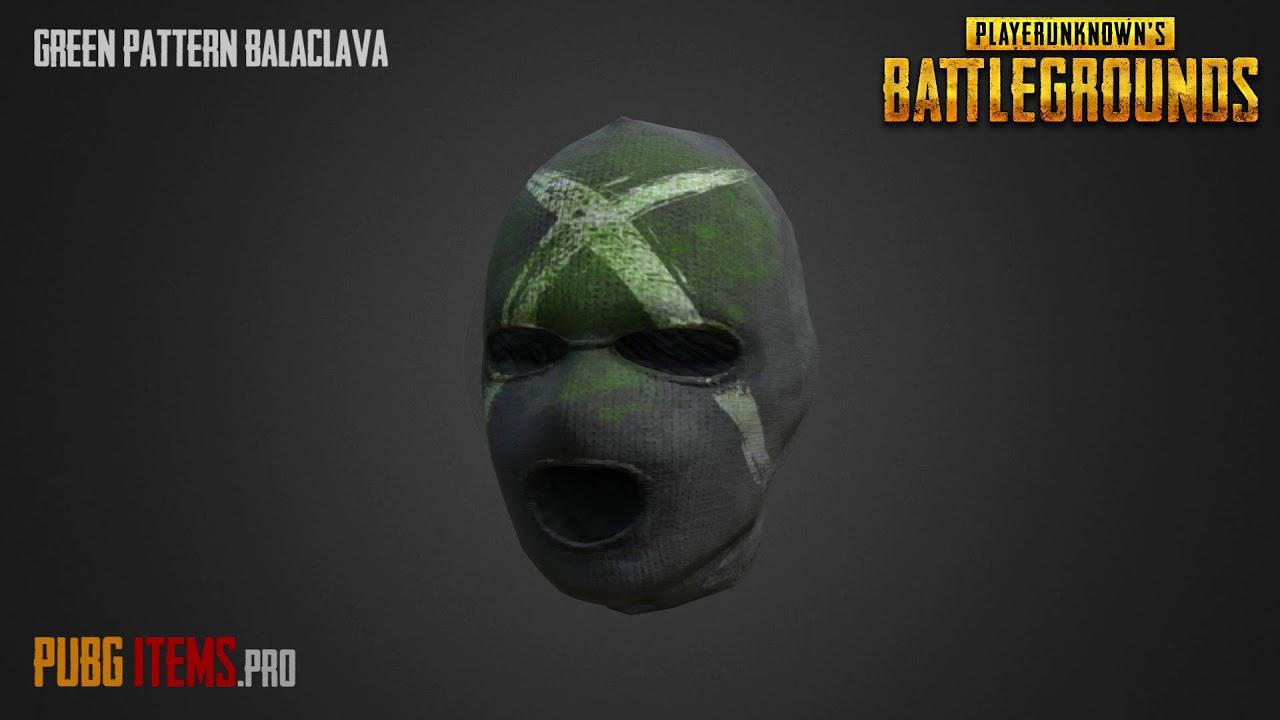 Green Pattern Balaclava | PUBG Item Showcase