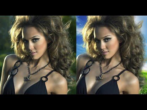 Как вырезать волосы  и сам объект в фотошопе БыстрО