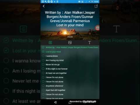 Alan Walker-alone lyrics. Joox style