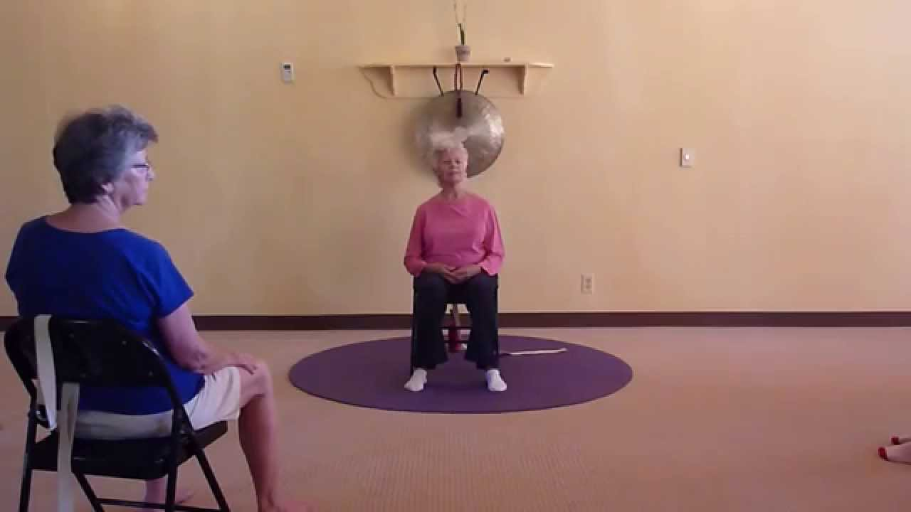 Chair yoga elderly - Chair Yoga Class For Seniors With 82 Yr Old Yoga Teacher Paula Montalvo Youtube