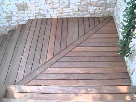 Escalier ext rieur en bois exotique en ip youtube for Escalier colimacon exterieur en kit