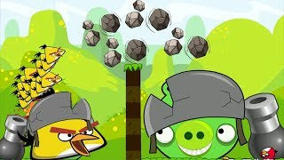 Angry Birds Cannon Collection 1 - CHUCK SHOOTING AND FORCING STONE TO BOSS PIG! ALL LEVELS!