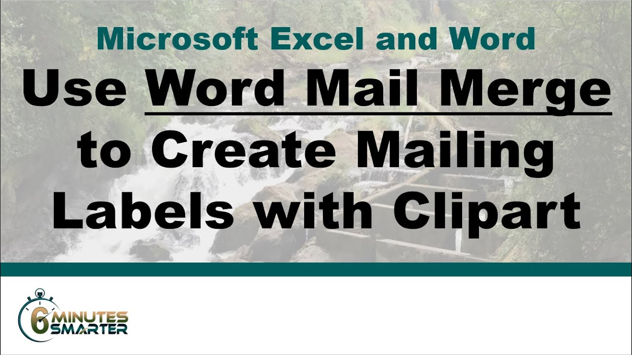 use word mail merge to create mailing labels with clipart With create mailing labels online