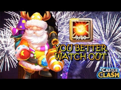 SANTA BOOM HERO SKILL LEVELED UP!! -CASTLE CLASH