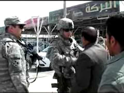 Iraqi Police and US Soldiers Patrol Local Kikuk Businesses