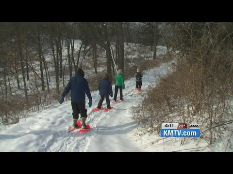 Get some winter exercise snowshoeing