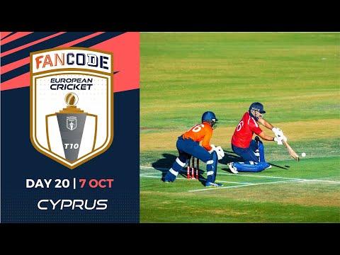 🔴 FanCode European Cricket T10 Cyprus,  Limassol | Day 20 T10 Live Cricket
