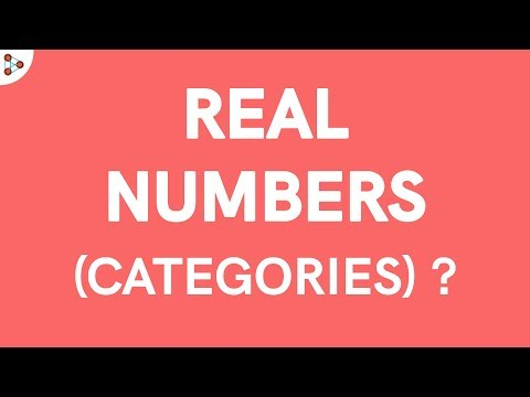 Real Numbers - Categories!