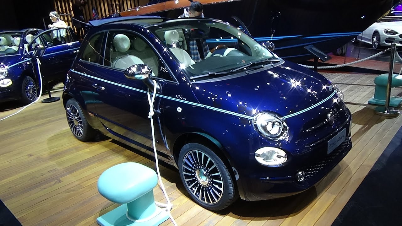 2017 fiat 500 riva convertible exterior and interior paris auto show 2016 youtube. Black Bedroom Furniture Sets. Home Design Ideas