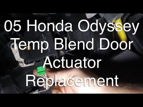 Driver Side Temperature Blend Door Actuator Replacement 05 Honda Odyssey