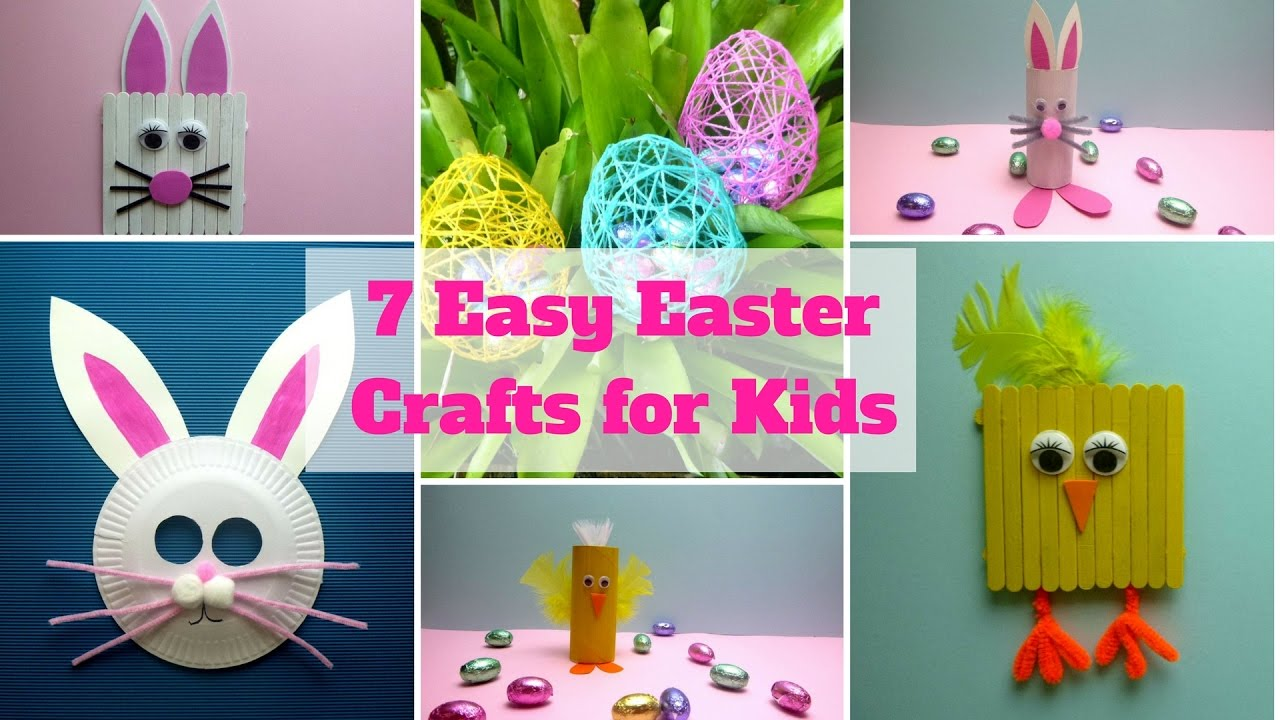 7 Easy Easter Crafts For Kids Easter Craft Ideas Youtube