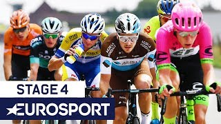 BinckBank Tour 2018 | Stage 4 Finish Highlights | Cycling | Eurosport