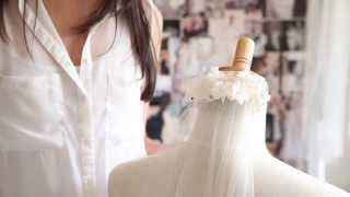 How to bustle a wedding veil