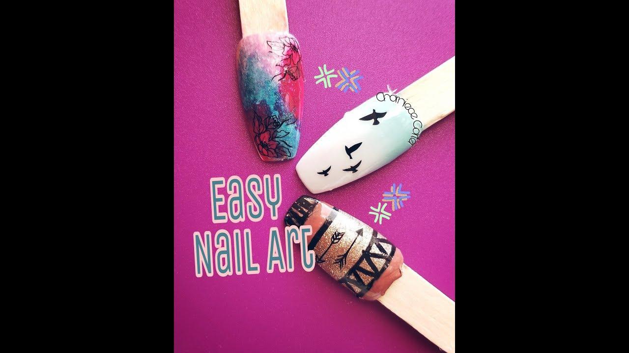 Press On Nail Art Easy Nail Tutorial Youtube