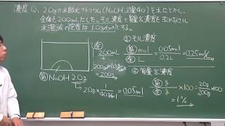 【化学基礎】濃度の考え方(2of3)