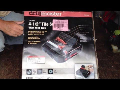 Portable 4 1 2 Wet Cut Tile Saw