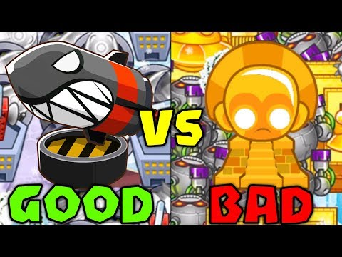 CRAZY LATE GAME :: Using Bomb Vs. Super Monkey Temples - Bloons TD Battles