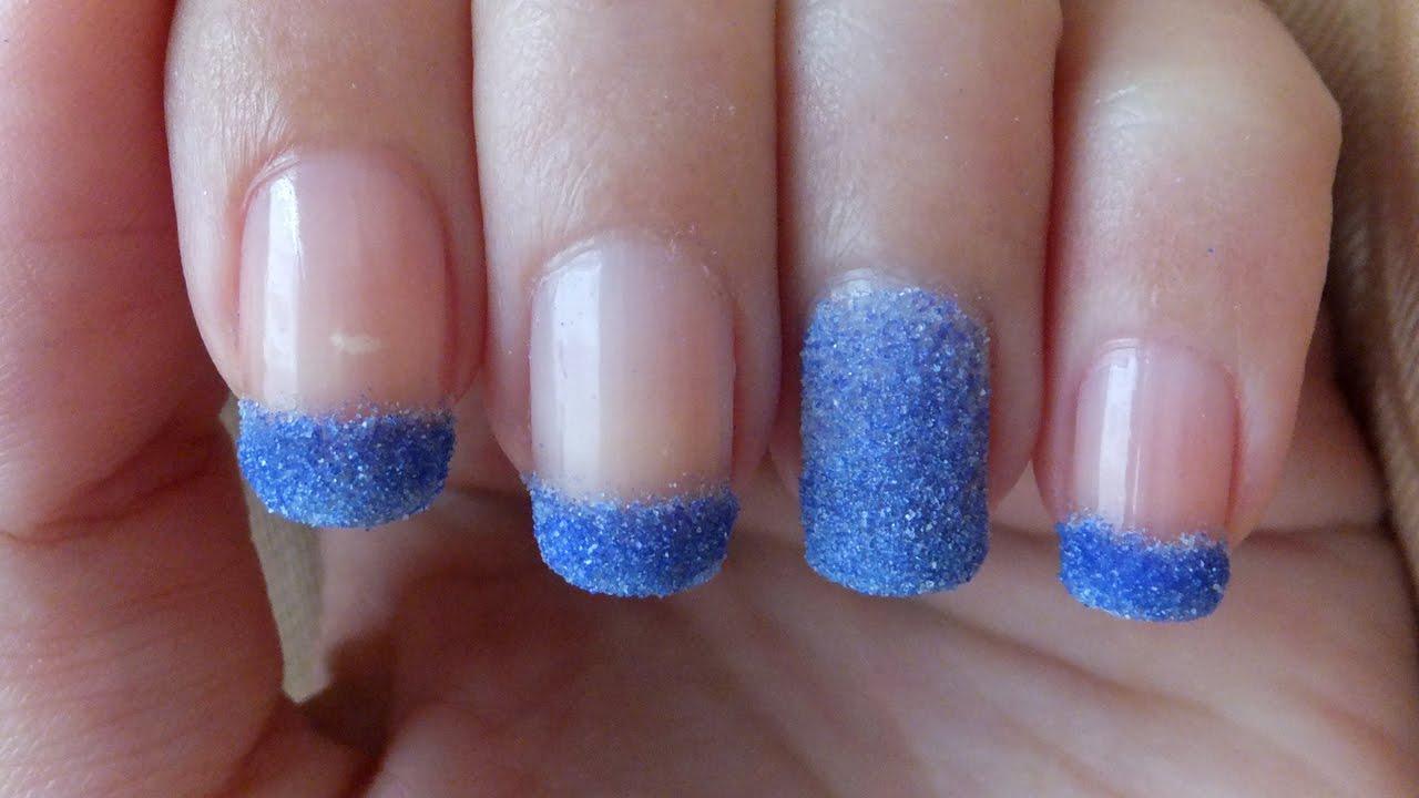 Glitter Powder Nails Nail Art Tutorial - YouTube