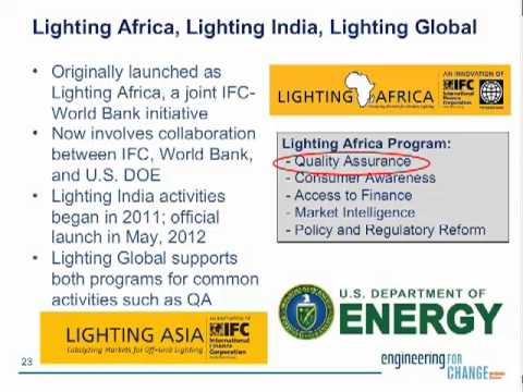 Lighting Global's Support of Clean Energy Markets for the Rural Poor