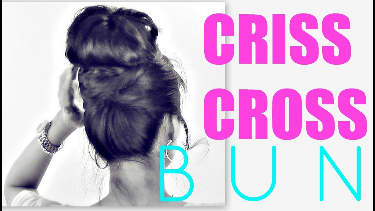 Cute bun hairstyles criss cross updos for medium long hair cute bun hairstyles criss cross updos for medium long hair tutorial school prom wedding styles youtube baditri Gallery